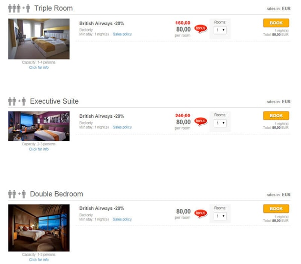 Online Booking System: Desktop | Mobile | Tablet - Booking